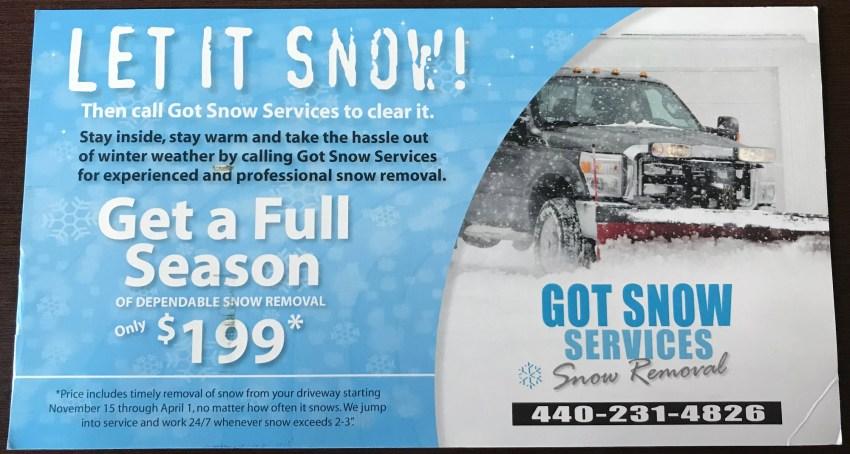 Got Snow Services 2017 Front