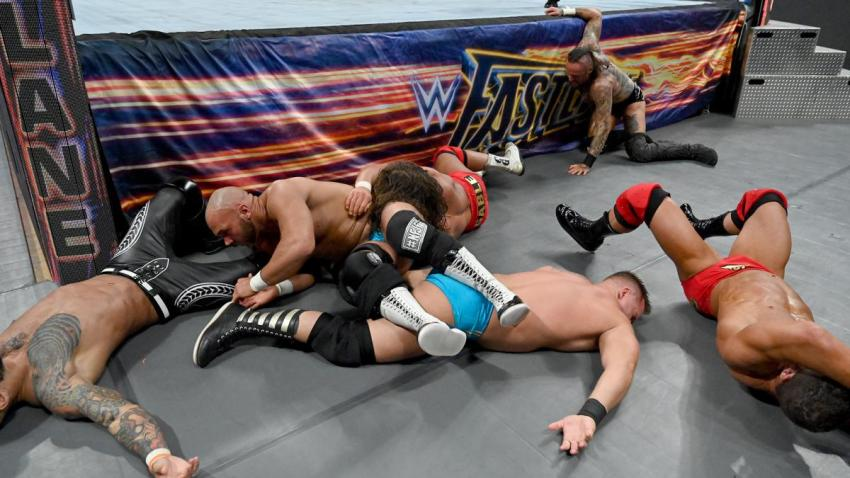 Fastlane 2019 - The Revival vs Aleister Black and Ricochet vs Bobby Roode and Chad Gable