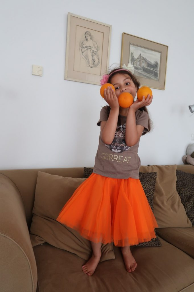 When life gives you oranges ... you dance in an orange tutu