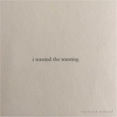 nayyirah waheed - wanting