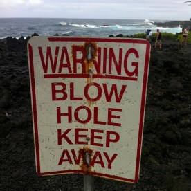 just one of the many warning signs here