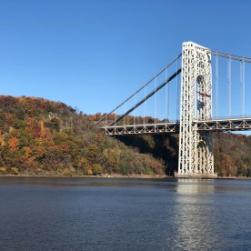George Washingtion Bridge from Hudson River Foliage Cruise