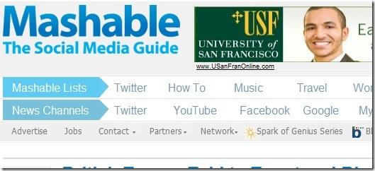 Mashable - top tech sites