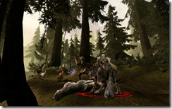 Dragon Age wolf fight
