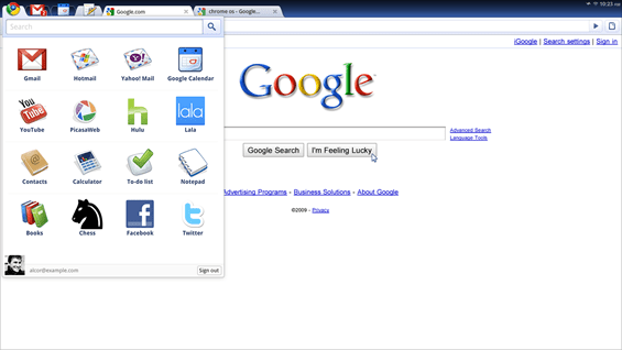 Google Chrome OS | Applications Pane | Chromium Projects