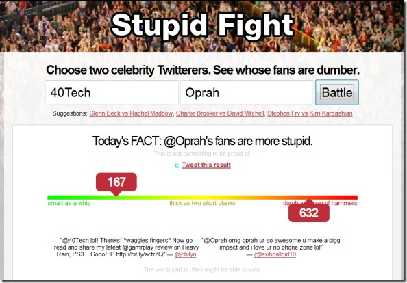 40Tech vs Oprah Stupid Fight Twitter intelligence comparison