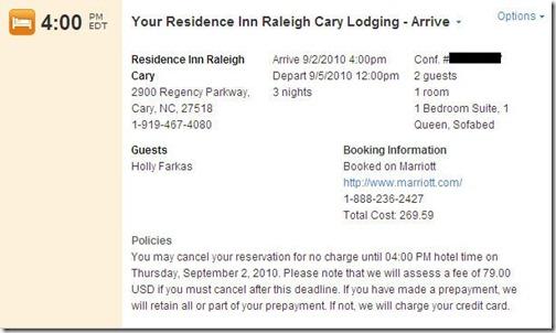 Tripit Hotel Reservation