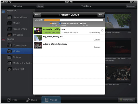 ZumoCast Downloads Files from Your PC to Your iPad, iPhone