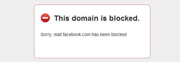 facebook mail blocked