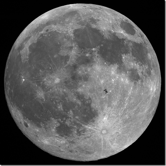 Photo of International Space Station as it Passes Across the Moon | Thierry Legault