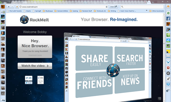 Rockmelt Chrome-Based Social Browser | 40Tech