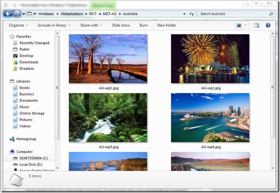 Hidden Country Themes, Australia, in Windows 7   40Tech