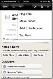 GTD in Springpad | 40Tech Reader Workflow