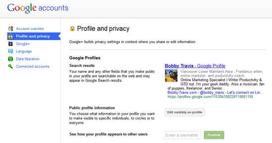 Google+ Profile Settings | 40Tech
