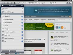Springpad Mobile Web Clipper for Mobile Safari in Atomic Web Browser | 40Tech
