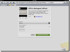Springpad Mobile Safari Web Clipper   40Tech