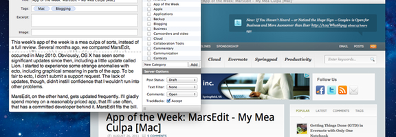 Marsedit app of the week