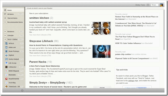 Reeder for Chrome Screenshot | 40Tech