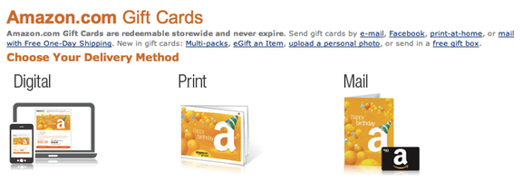 Multiple credit cards to purchase on Amazon using gift cards