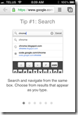 Chrome iPhone App | Omnibox Search | 40Tech