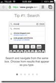 Chrome iPhone App | Omnibox Search | 40Tech