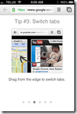 Chrome iOS App | Swipe to Change Tabs | 40Tech