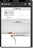 Chrome iPhone App | Collapse, Expand, Swipe Tabs | 40Tech