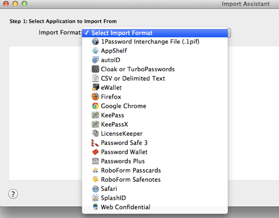 Import Format LastPass to 1Password