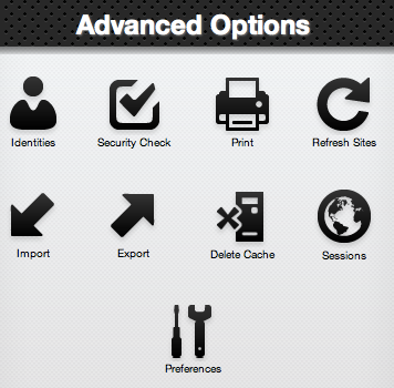 LastPass advanced options