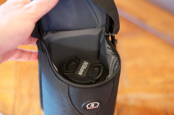 Lens case inside
