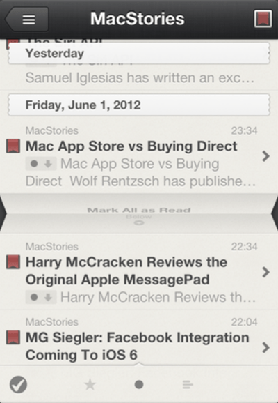 reeder for iphone