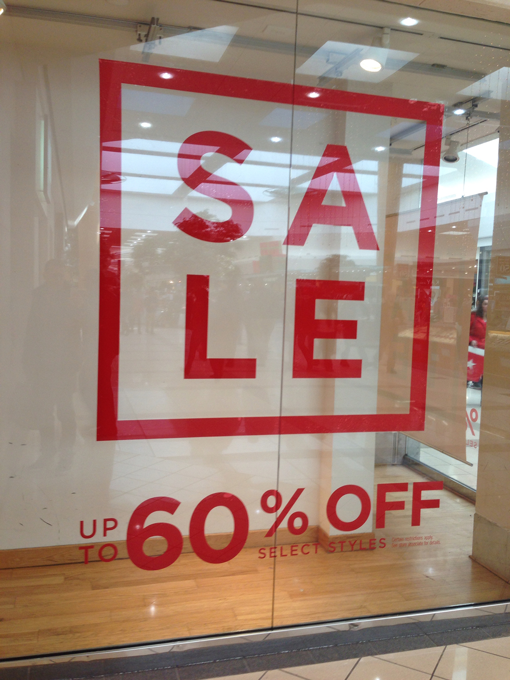 Window Signage Clear Cling