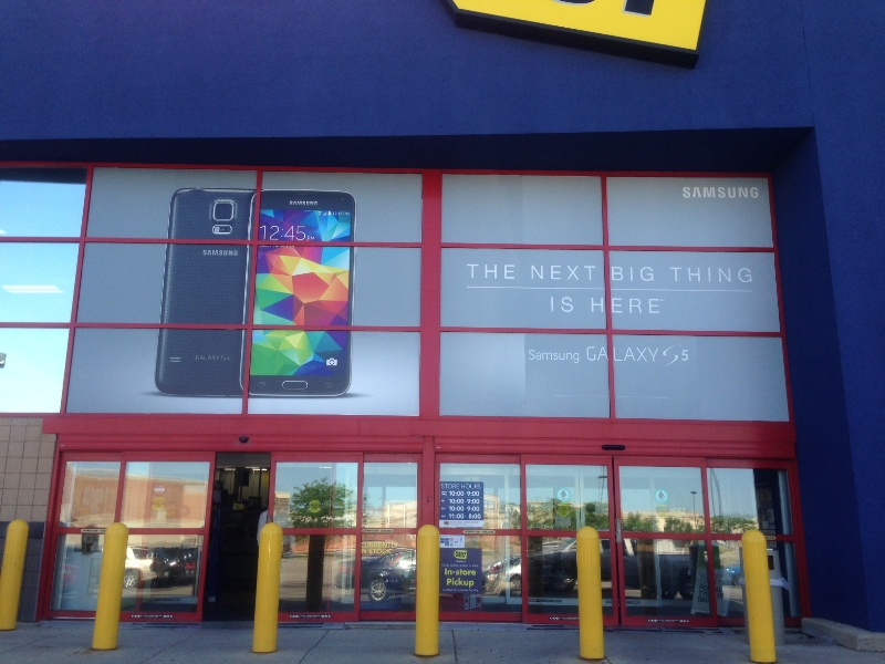 Samsung Adhesive Vinyl Window Displays at Best Buy