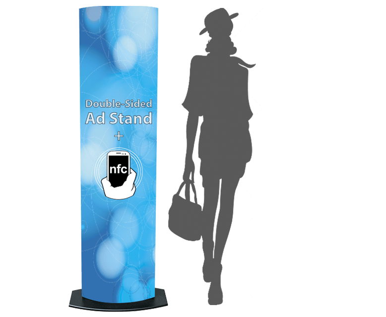 NFC Double Sided Advertising Tower