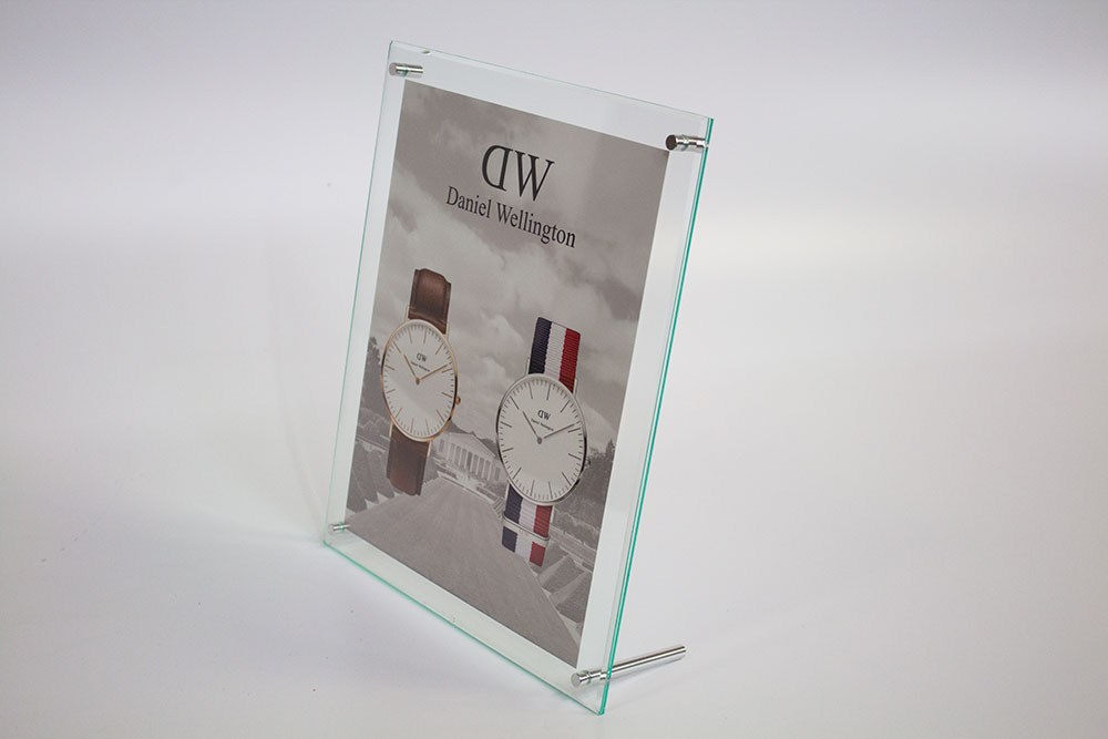 Bevel Edge Counter Card Display