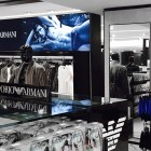 Armani fabric light box sign Macy's