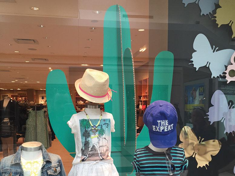 J. Crew falconboard storefront window display