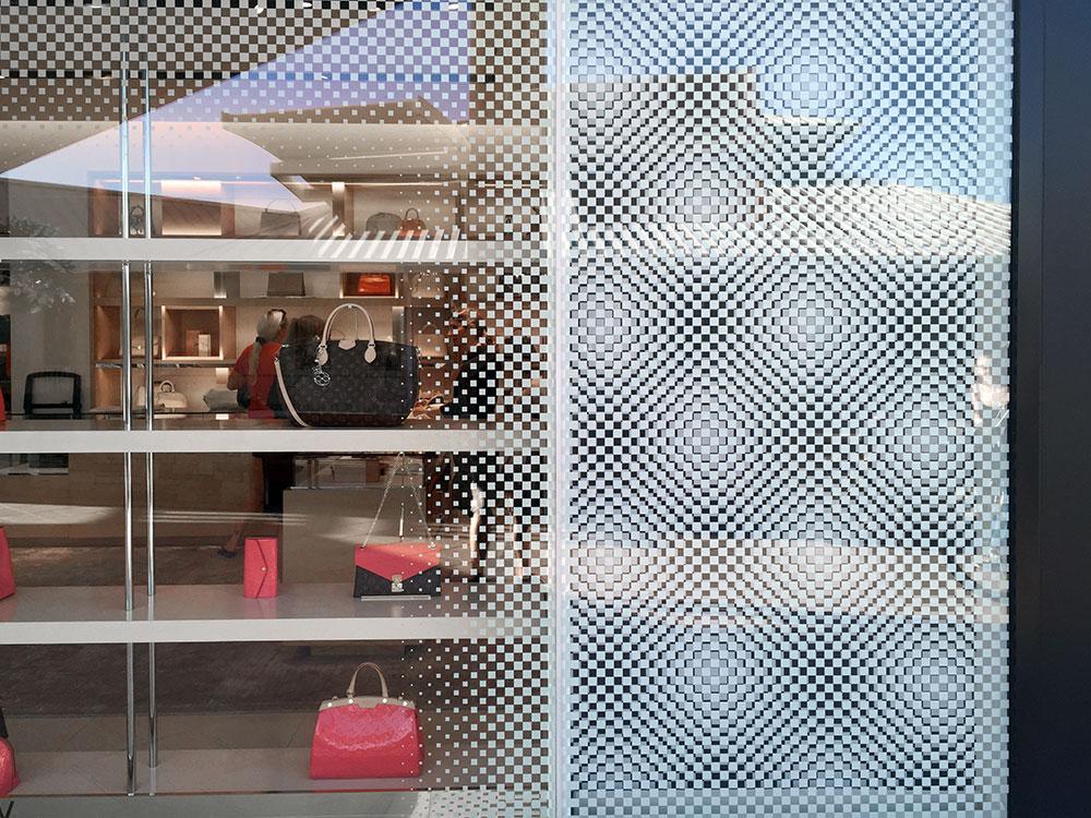 Louis Vuitton window decor ultra clear clings