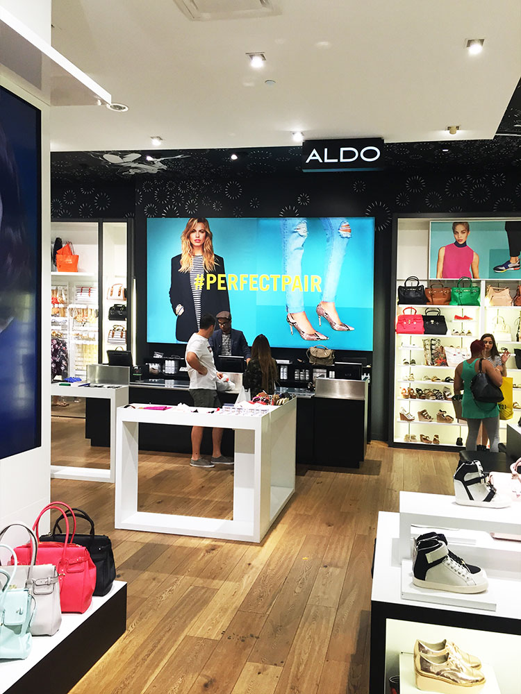 ALDO Silicone Edge Fabric Frame Display