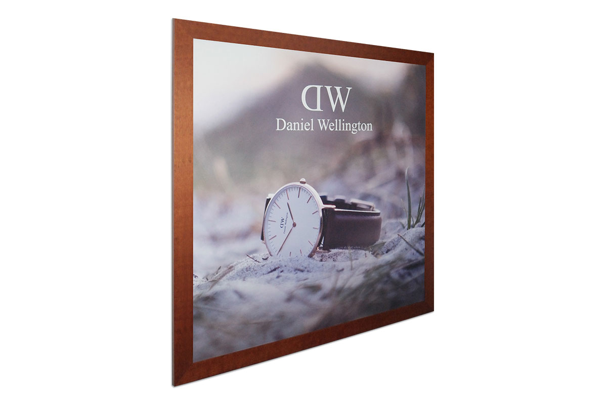 Framed and printed decor for Daniel Wellington