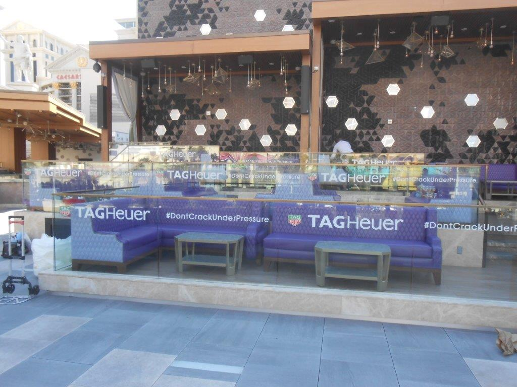 Window Clings on Glass for TAG Heuer Party