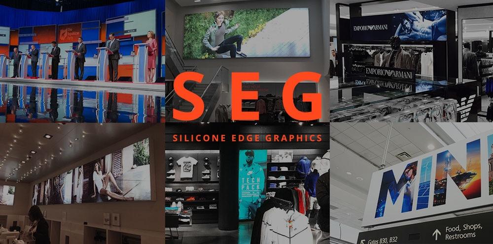 SEG printing fabric dyesub frameless frames applications edgeless