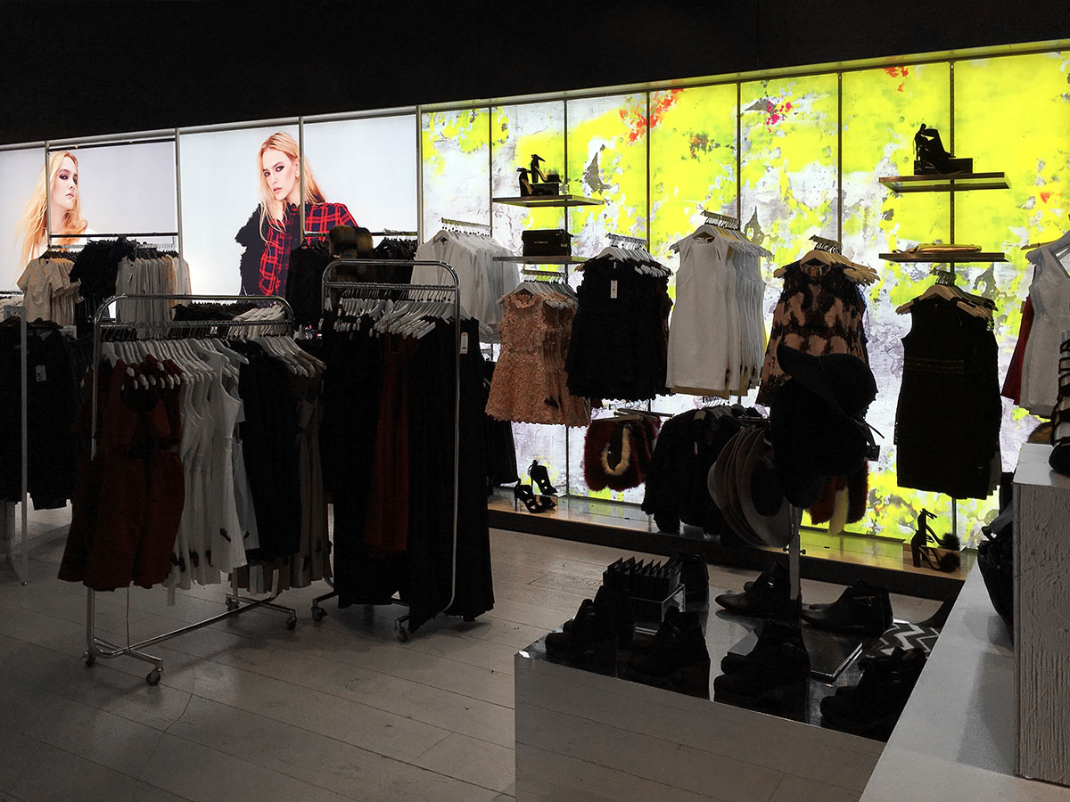 SEG Printing Fabric Topshop Fashion Retail Light Boxes