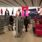 Backlit fabric light box signage topshop NYC fashion retail printing