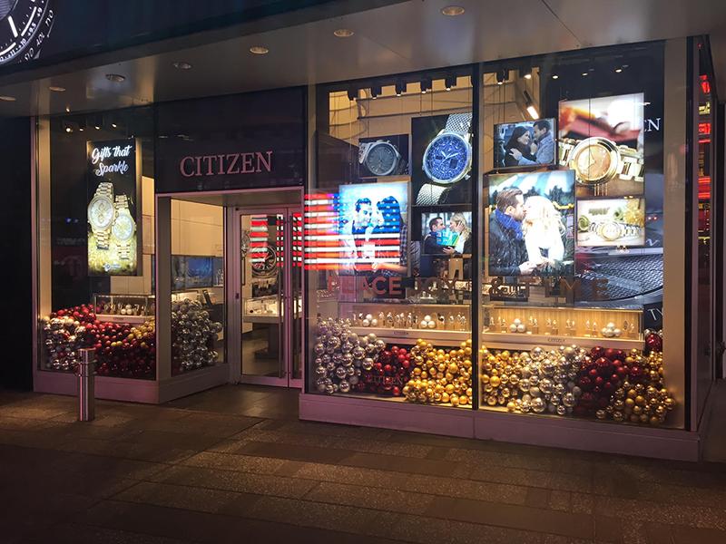Retail Signage Window Displays Time Square New York