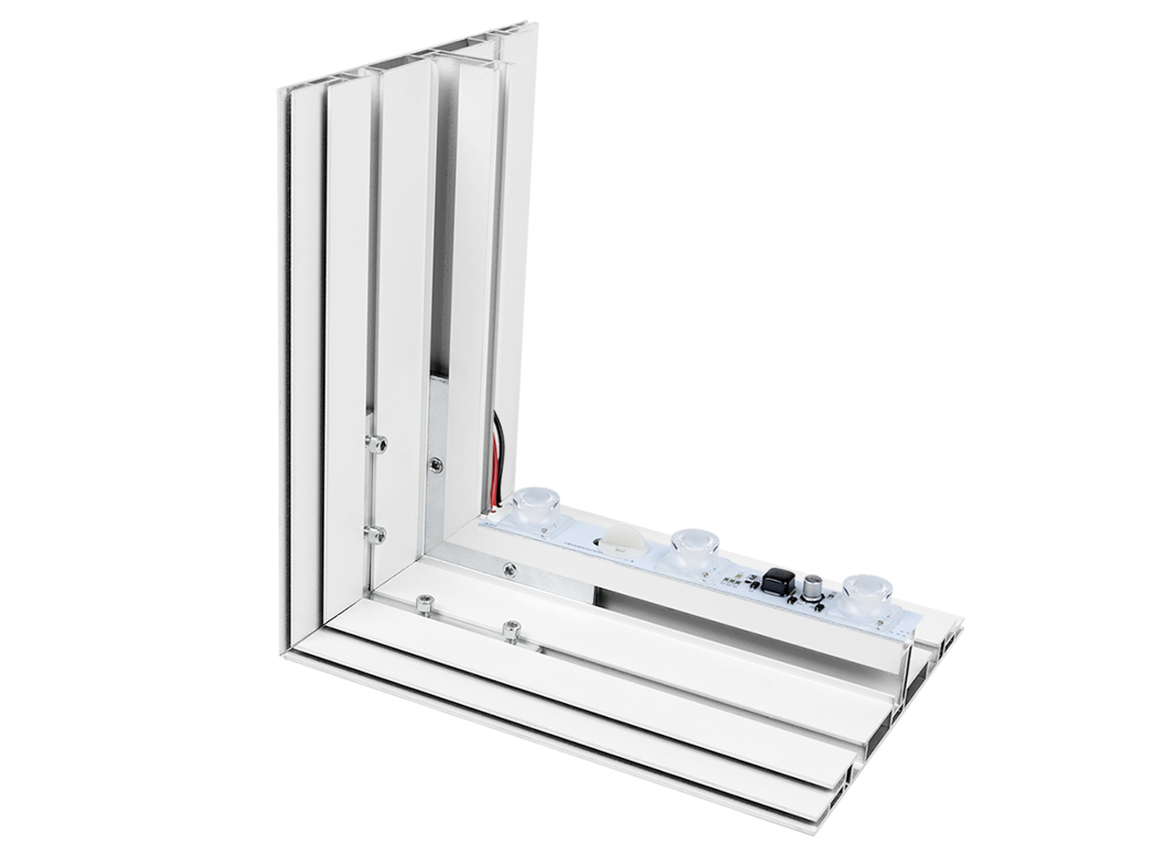 SEG Lightbox LED double-sided aluminum LED lightbar aluminum manufacturing light Backlit Visuals Fabric Frame Silicone Graphics Merchandising Visual Design Marketing Advertising