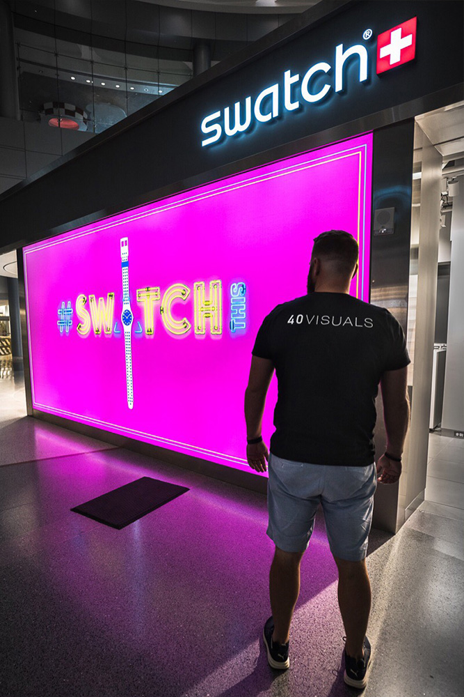 SEG Lightbox backlit retail display silicone edge graphic design single-sided manufacturing light Backlit lightbox lightbar aluminum Visuals Fabric tension Frame Silicone Graphics Merchandising Visual Design Marketing Advertising