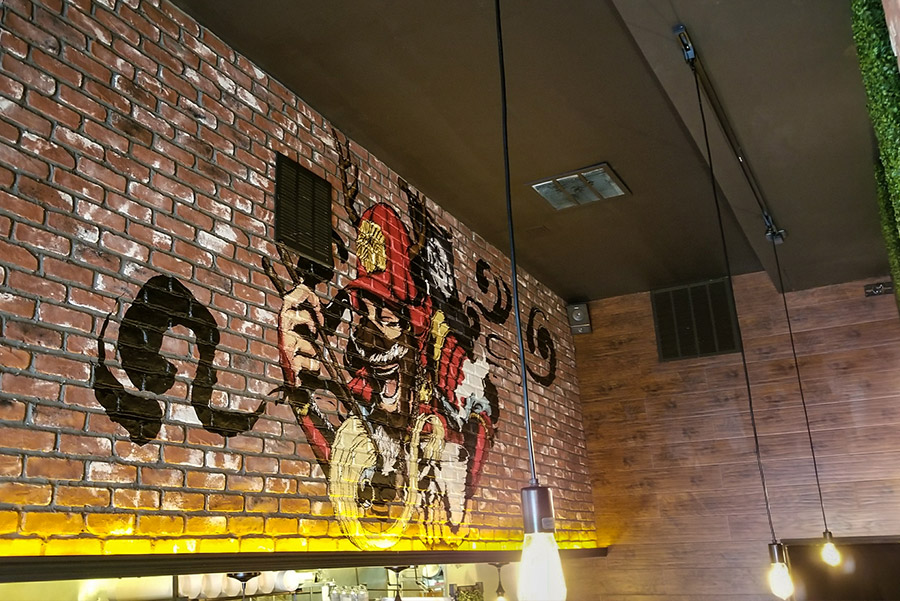 Brick Wall Vinyl Wrap Installation At Jinya Ramen Bar 40
