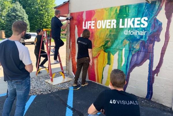 vinyl wrap brick walls outdoor textured mural wall painted print printed printing rough rap sign signage