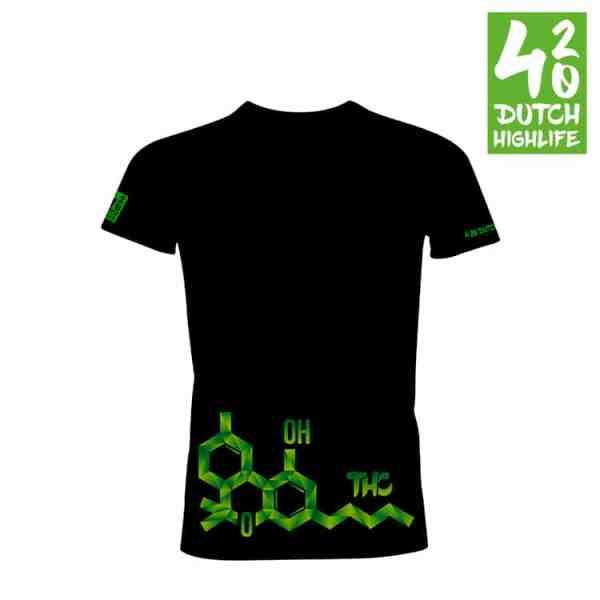 420 Dutch Highlife T-shirt Molecuul Heren